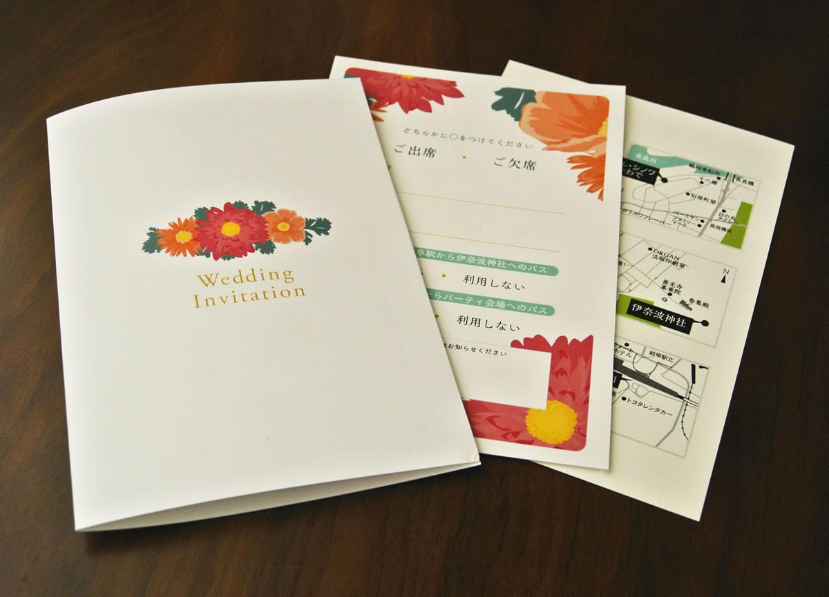 結婚式招待状デザイン